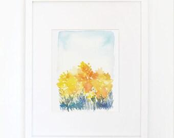 Autumn- Watercolor Art Print