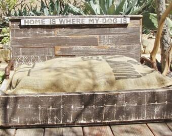 Salvaged Wood Dog Platform Bed