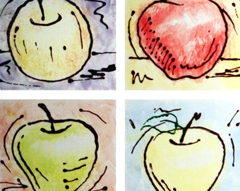 Four Apples Print