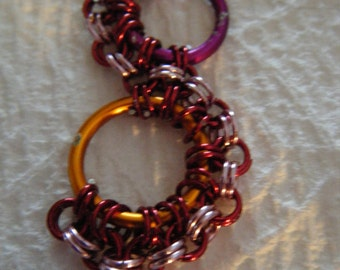 Large S Multi Color Earrings