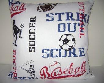 Sports Pillow Cover, Boys Pillow Cover, Baseball Pillow Cover, Football Pillow Cover
