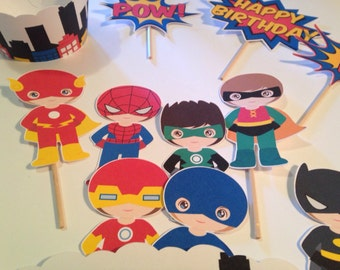 Super Hero Wrappers and Toppers