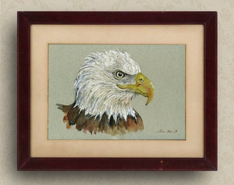 Bald eagle paintings | Etsy