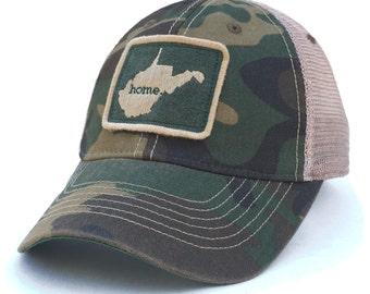 Homeland Tees West Virginia Home Hat - Vintage Camo