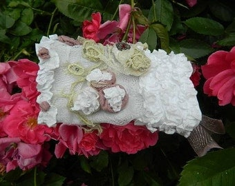 Embellished cuff with silk and organza