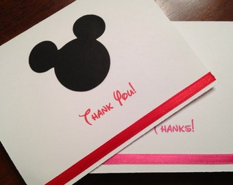 Mickey Mouse Thank You Cards, Mickey Thank You Cards