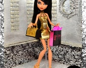 "Monster Doll ""Golden Ghoul"" fierce high fashion outfit"