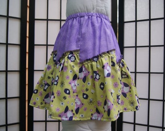 3T Angle skirt, Panel skirt, Gathered skirt