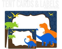 Dinosaur Party Candy or Food Buffet Labels and Station Signs Personalized Party Printables (416)