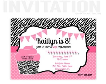 Cupcake Invitations, Cupcake Invitation, Cupcake Birthday Invitations, Cupcake Party Invitations, Cupcake Decorating Party Invitations :341
