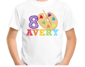 Art Party Birthday Shirts, T Shirt Transfers, T Shirt Iron On Transfer / No.401