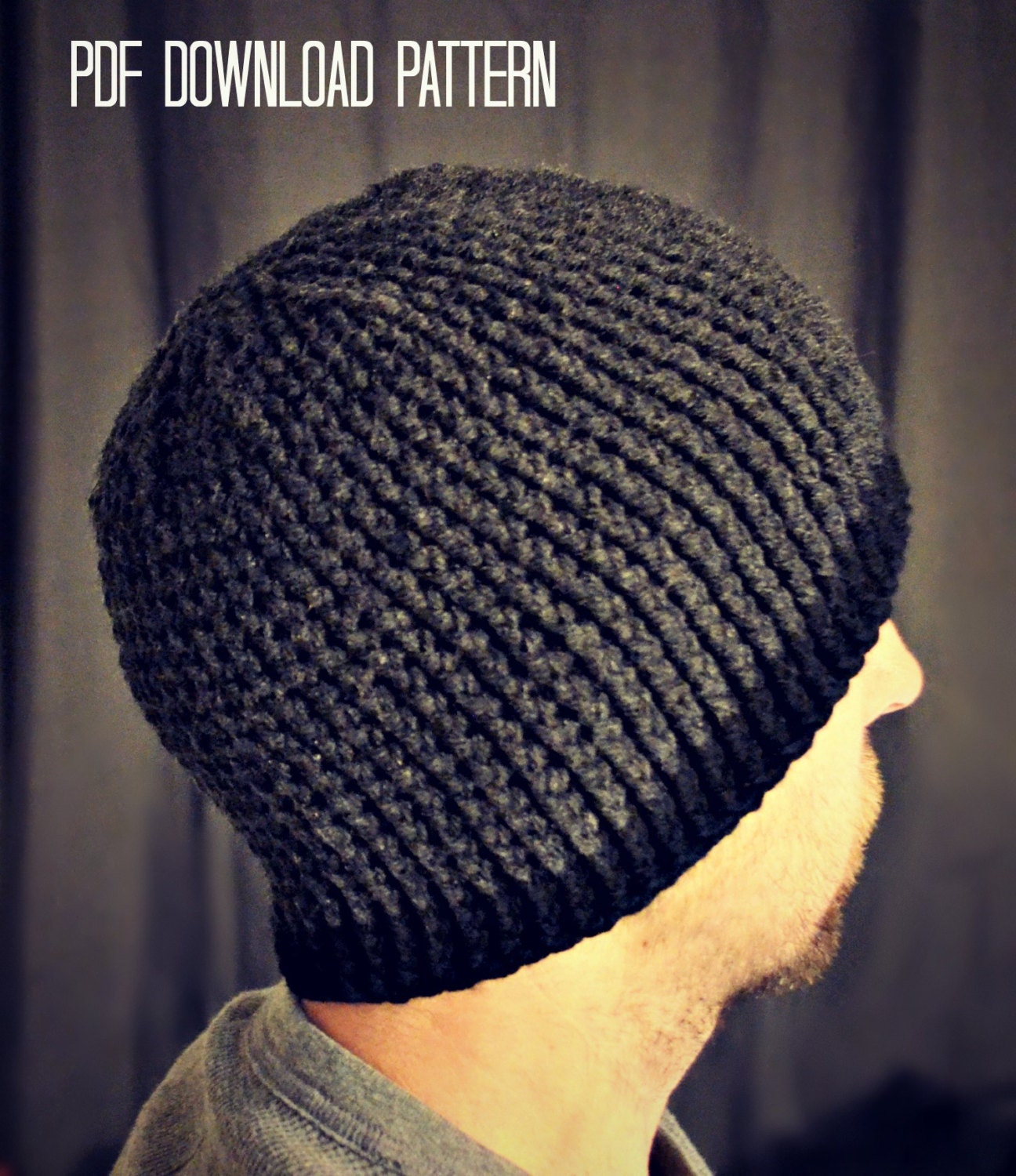 CROCHET PATTERN-Gavin Guy Beanie Crochet hat by ...