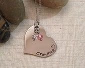 Stainless steel grandma necklace