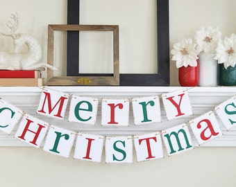 Christmas Banner - MERRY CHRISTMAS banner - Christmas Photo Prop - Holiday Decorations - Christmas decor
