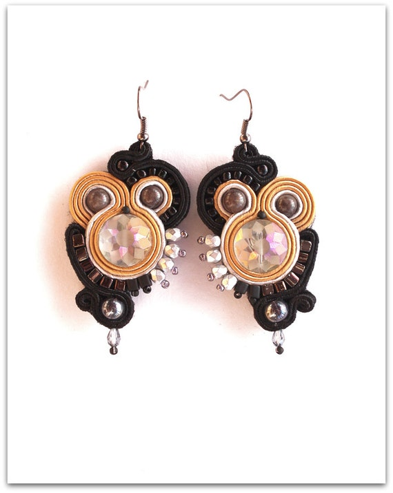 Elegant soutache earrings, HANDICRAFT