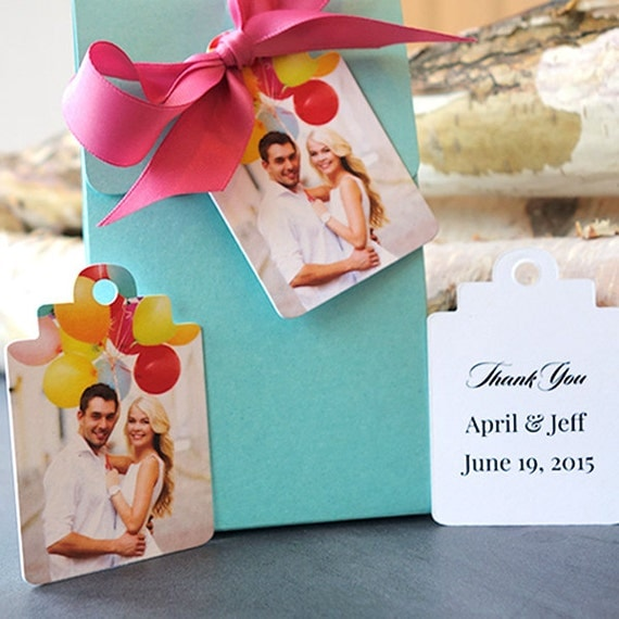 Wedding Favor Tags Messages : 100 Wedding favor tags with personalized message and photo. Design it ...