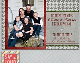Houndstooth Photo Christmas Card