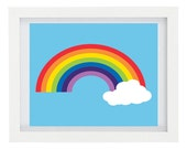 Rainbow Art Print, Modern Home Decor, Wall Art, Summer, Colourful, Children's Room Decor, Nursery Decor, 8 x 10 Fine Art Print