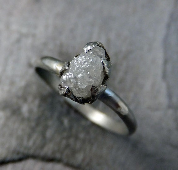 Raw Rough UnCut Diamond Engagement Ring Rough Diamond
