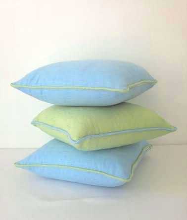 Baby Blue Decorative Pillow : Baby Blue Twill Throw Pillow Cover 26 by 26 by CushionsandMore