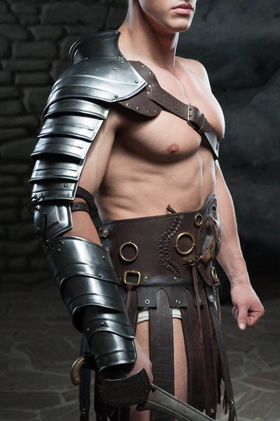 Larp Armor Gladiator Spartacus Leather By Ironwoodsshop On