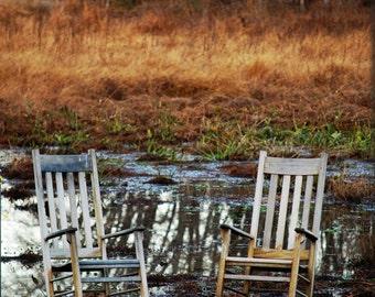 Relax / Rocking Chairs Dock Lake Pond Peaceful Rest Pier