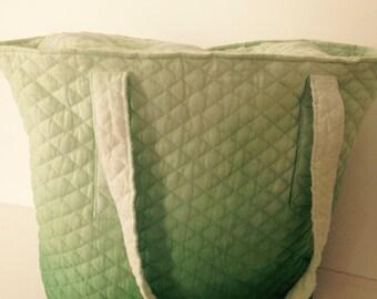 Lemon green tote quilt cotton