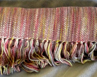 Highland Mist - Hand woven merino wool blend scarf