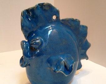 Ceramic BlueFish Birdhouse