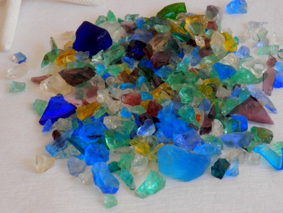 Broken glass pieces sea glass craft supplies by for Broken glass crafts