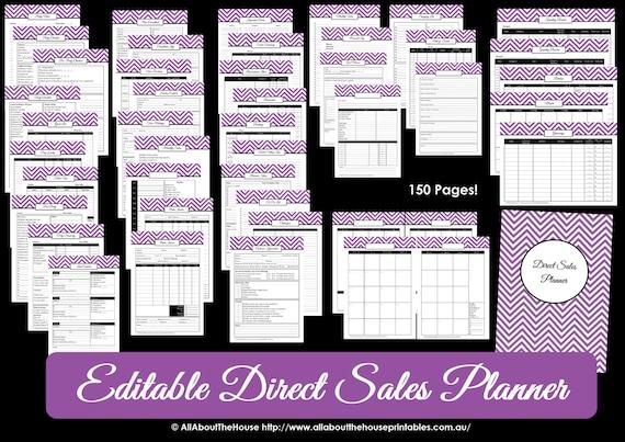direct sales planner purple editable business planner. Black Bedroom Furniture Sets. Home Design Ideas