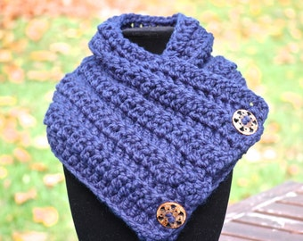 Handmade Crochet Button Toggle Cowl