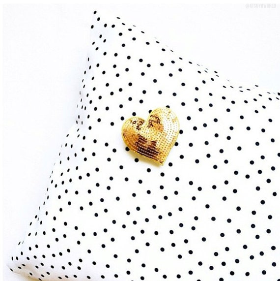 Black and White Polka Dot Pillowcases