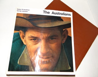 "Vintage 60's   "" The Australians"" by Johnston and Goodman Hard Cover Book with Jacket and Slip Case"