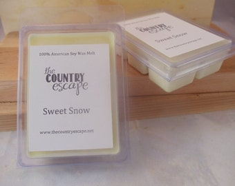 Sweet Snow 100% Soy Wax Melt - Vanilla & Mint - Maximum Scented