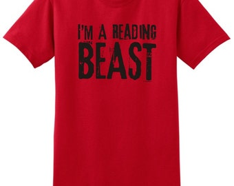 I'm A Reading Beast T-Shirt 2000 -  RV-112