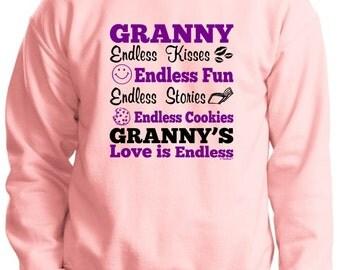 Granny's Endless Love Crewneck Sweatshirt 18000 - FA-386