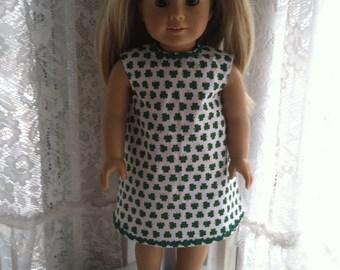 Shamrock dress for 18 inch dolls