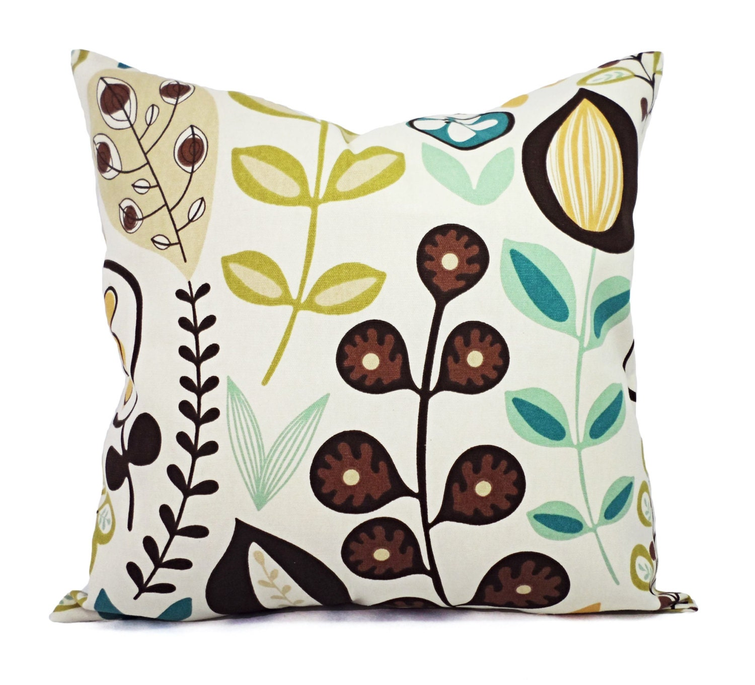 Pillow Covers Two Fun Floral Throw Pillow Covers Cream