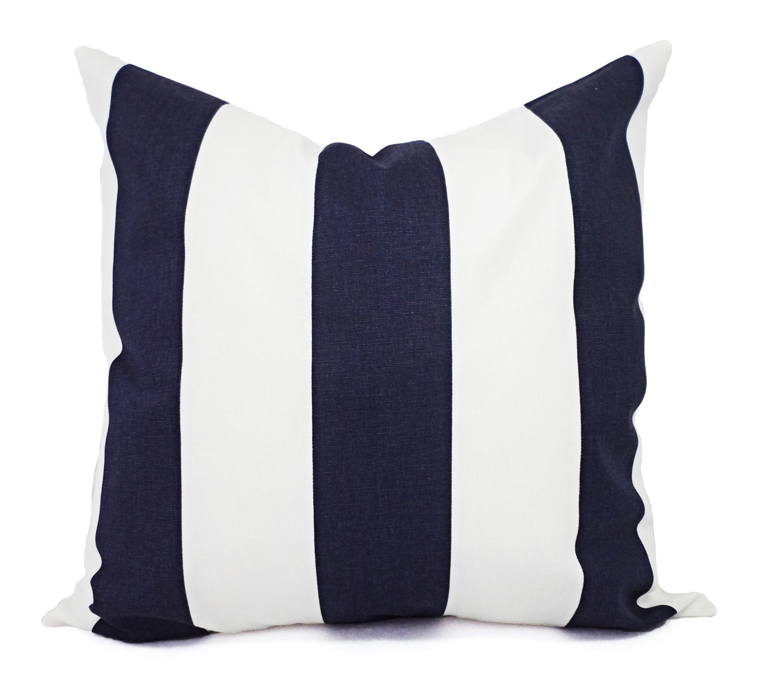 Navy Blue Pillow Covers Two Navy Striped Pillow Covers