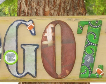 Seattle Seahawks Personalized Plaque - Customize by name, letters and players. All teams welcome!