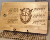 Laser Engraved Wooden Cutting Board - Special Forces /Ballad of the Green Beret -