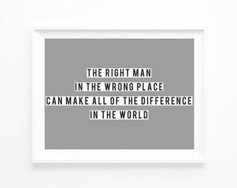 RIGHT MAN | Print