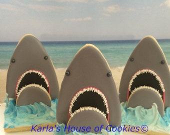 3D Shark Sugar Cookies