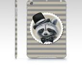 Mr. Racoon iPad case, racoon iPad Mini 1 case, racoon iPad air 1 case, poly carbon ipad case, designer iPad, racoon iPad case, animal iPad