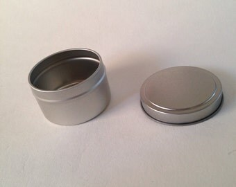 6 oz Seamless Tins with Lid set of 5