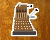 Pixel (8 bit) Doctor Who Dalek Sticker