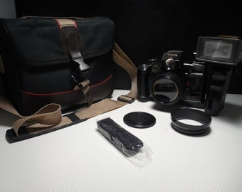 Film camera Mitsuba TC 8000 D 35mm vintage camera with flash and case