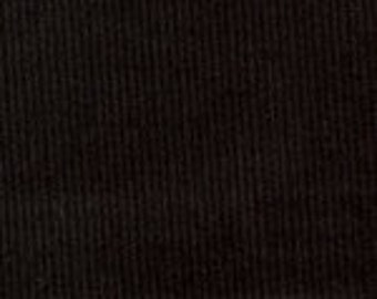 HALF YARD Black Corduroy Fabric Finders Cotton Fabric