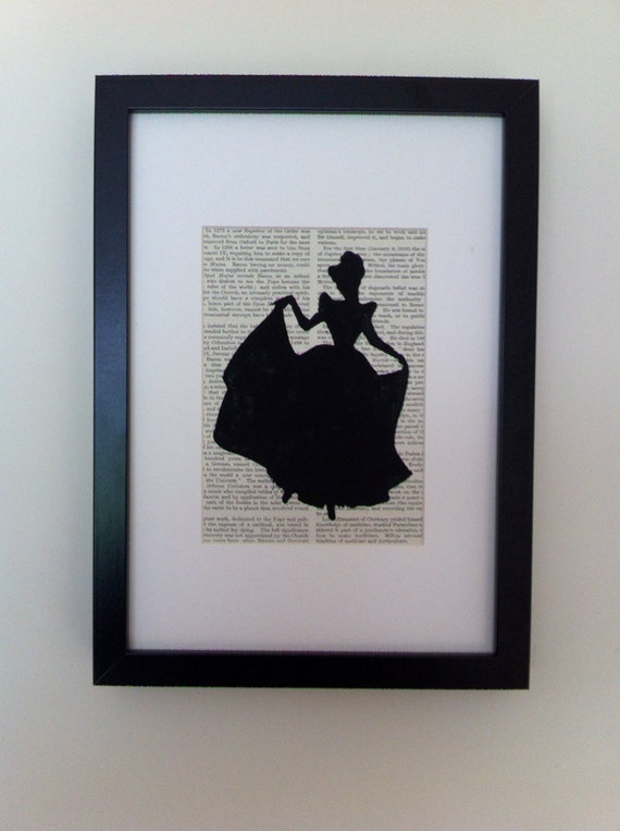 Cinderella is going to the ball. This linocut print would look fantastic on your wall or would make a super gift.